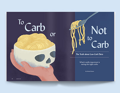 To Carb or Not to Carb • Editorial illustration
