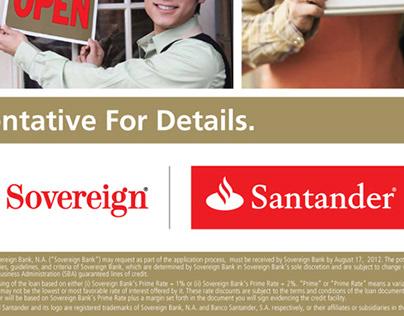 Sovereign | Santander Online & Print Creative