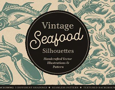 Vintage Seafood Silhouettes