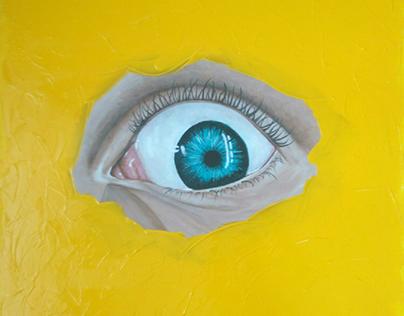 acrylic painting eye