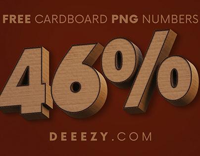Cardboard - Free 3D Numbers