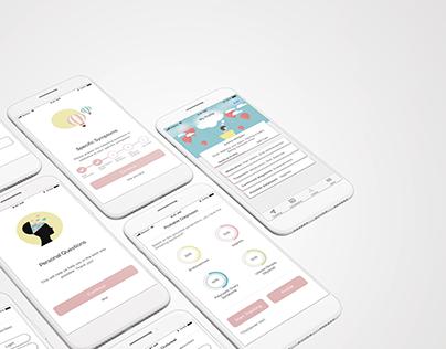 Endometrix - app design related to women's health