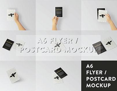A6 Flyer / Postcard Mockup | Free Download