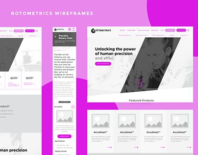 Rotometrics Wireframes