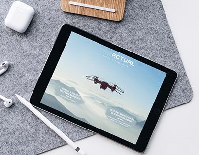 The Actual - UI Design, Digital publication design