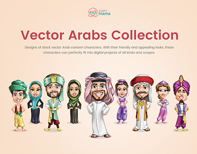 Vector Arab Characters Collection
