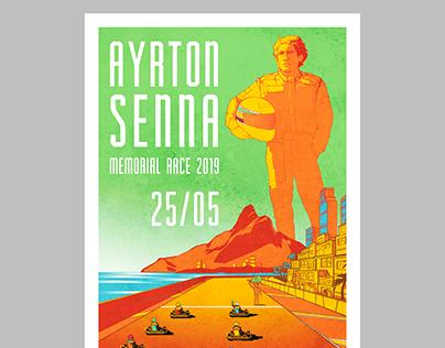 POSTER AYRTON SENNA RACE'19