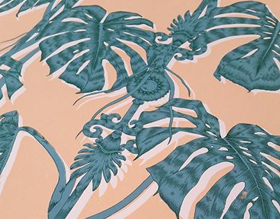 'Palm House' Screen Print | Half Drop Repeat Pattern