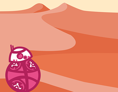 Robot on the Dunes