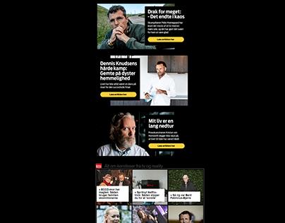 "Editorial branding campaign // ""Om livets nedture"""