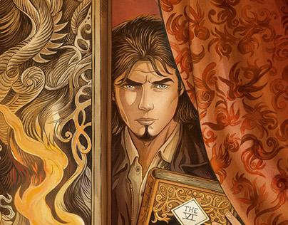 Niklos Koda tome 14 - retouche du dessin de couverture