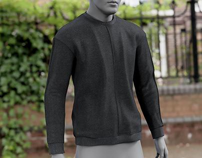 Realistic 3D model of Men's Sweater