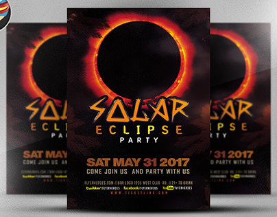 Solar Eclips Party Flyer Template