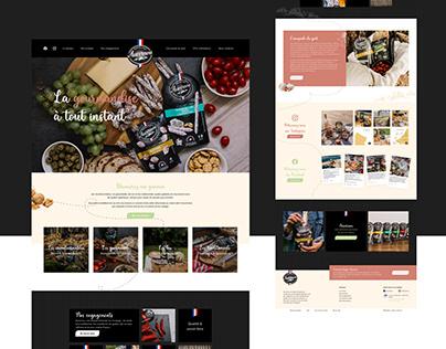Auvernou - Webdesign marque alimentaire