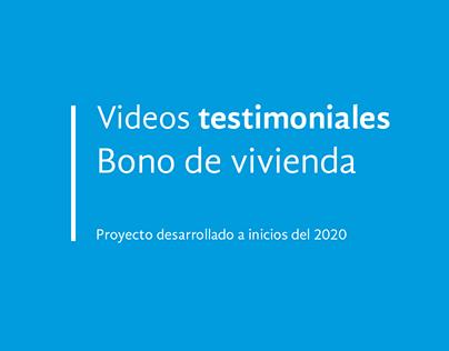 Videos testimoniales Bono de Vivienda