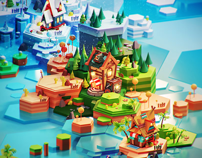 Lowpoly 3D world