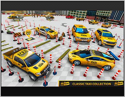 Multi Level Taxi Car Parking: Driving Simulator