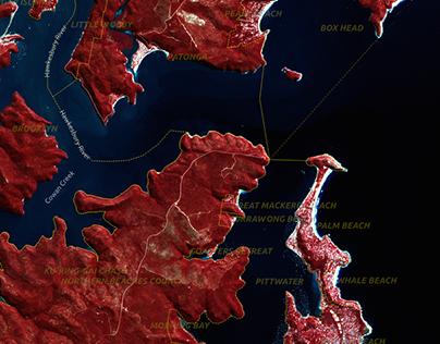 Australian autumn map style