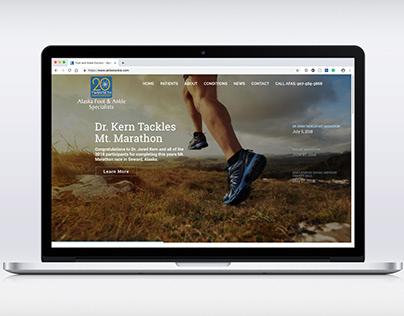 Alaska Foot & Ankle Specialists website