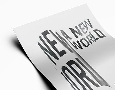 A New World - Poster Design