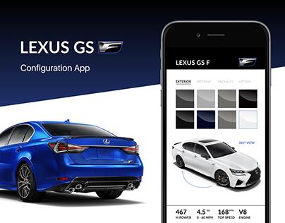 LEXUS GS F - Configuration App