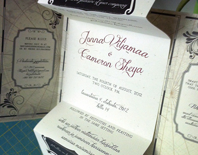 My brother's wedding invitations