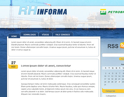 Layout para blog informativo interno da Petrobras