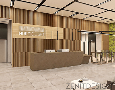 Nordic Light Office 3 lobby design