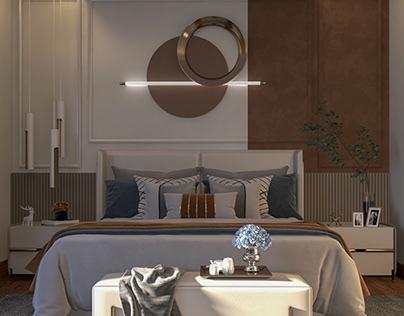 Monochromatic Master Bedroom