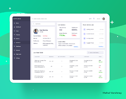 Dashboard: Hotel, Tour and travel's customer Management