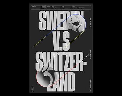Poster Sweden vs Switzerland 03.07.18 — 16.00