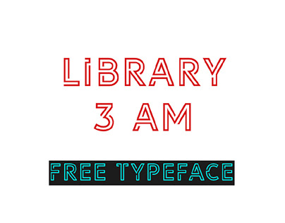 LIBRARY 3 AM - FREE OUTLINE DISPLAY FONT