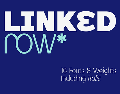 Linked Now - Free Extra Bold Font
