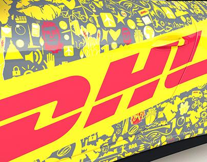 Porsche GT3 911 Gen.2 DHL Car Livery Design