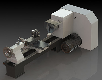 """Automatic feed Lathe """"Fabel"""" brand."""