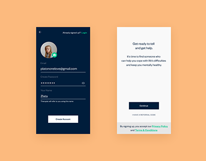 Tell app // Online psychoterapy