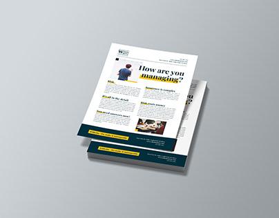 Wilhelm Agency - Flyer Design