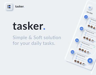 Tasker : task management app ui