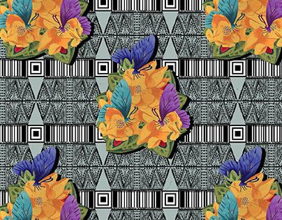 "Textile Pattern Designs Inspired by ""New Territories"""