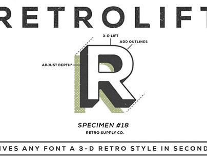 RetroLift | 3D Photoshop Action