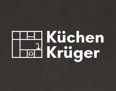 Küchen Krüger logo/leaflet