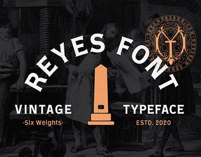 Reyes Typeface