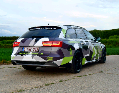 Audi A6 break Camo wrap