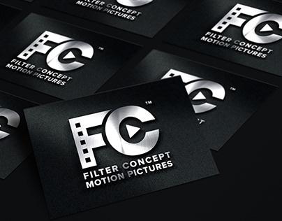 Filter Concept Motion Pictures Logo Design