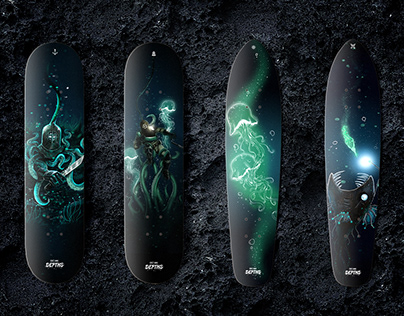OCEAN DEPTHS - Skateboard Design