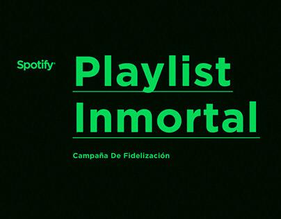 Playlist Inmortal / Spotify / Ad campaign