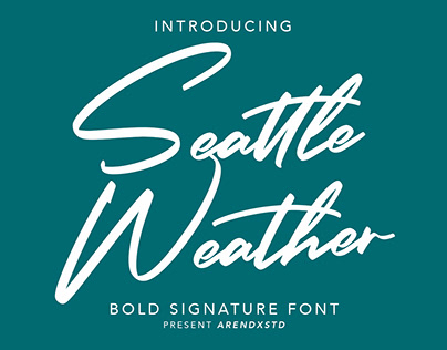 Seattle Weather | Bold Signature