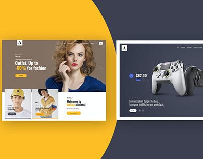 Website Featured Area Design Concept Template