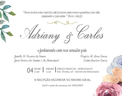 Convite de Casamento #floral