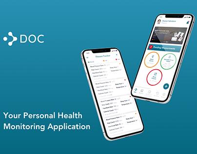 Personal Health Monitoring Application